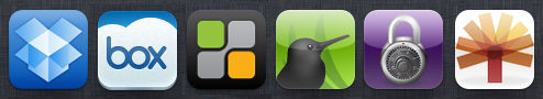 mobile apps for online backup with an ipad
